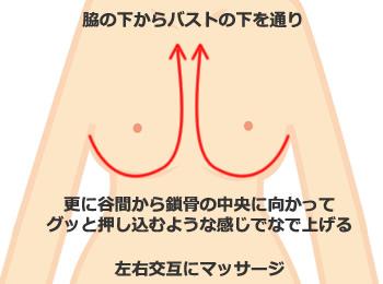 乳腺マッサージで胸を大きくする